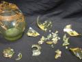 Flacon en verre avant restauration