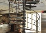 escalier hélicoïdal à fût central