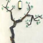 Décor arbre mur extérieur terrasse (création Marie Connan)